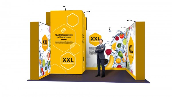 Modularer Messestand xxl-23 (374x298x300 cm)