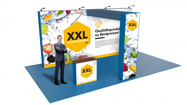 Modularer Messestand xxl-19 (596x298x331 cm)