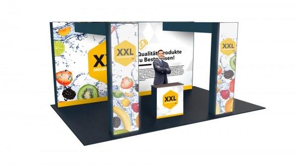 Modularer Messestand xxl-20 (596x298x364 cm)