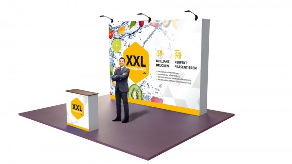 Modularer Messestand xxl-11 (298x224x33 cm)