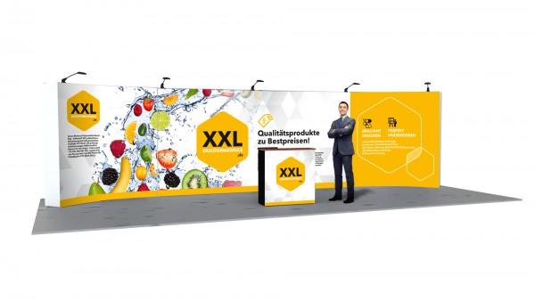 Modularer Messestand xxl-22 (896x224x33 cm)