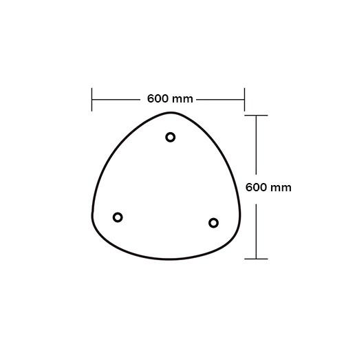 Ersatzdruck Zippit Theke B - Dreieckig