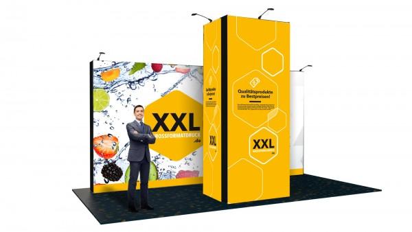 Modularer Messestand xxl-26 (596x374x300 cm)