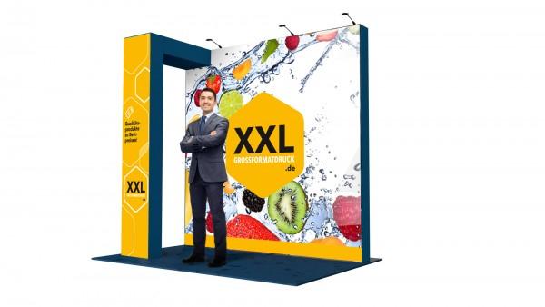 Modularer Messestand xxl-34 (448x448x216 cm)